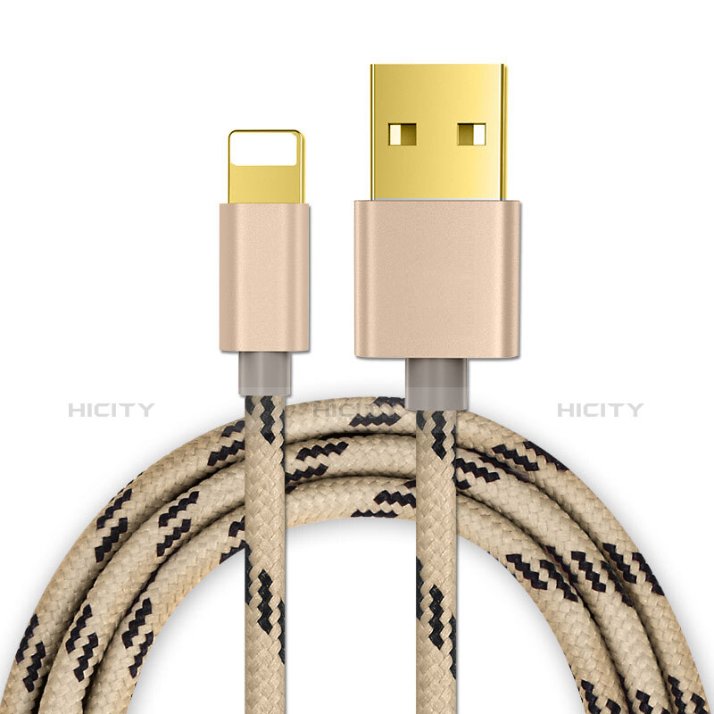 Cargador Cable USB Carga y Datos L01 para Apple iPhone 11 Pro Oro