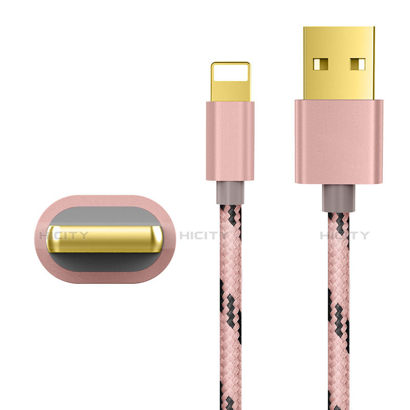 Cargador Cable USB Carga y Datos L01 para Apple iPhone 11 Pro Oro Rosa