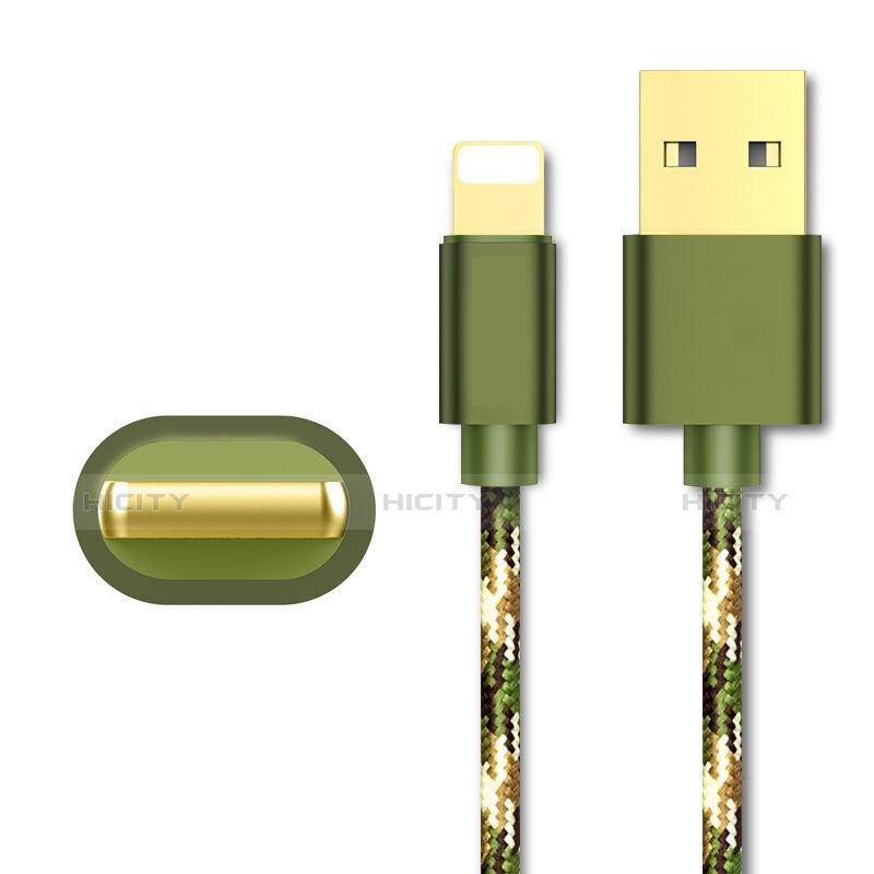 Cargador Cable USB Carga y Datos L03 para Apple iPhone 11 Pro Verde
