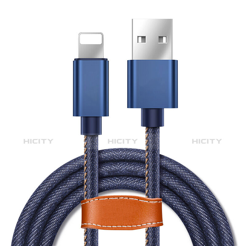 Cargador Cable USB Carga y Datos L04 para Apple iPhone 11 Azul