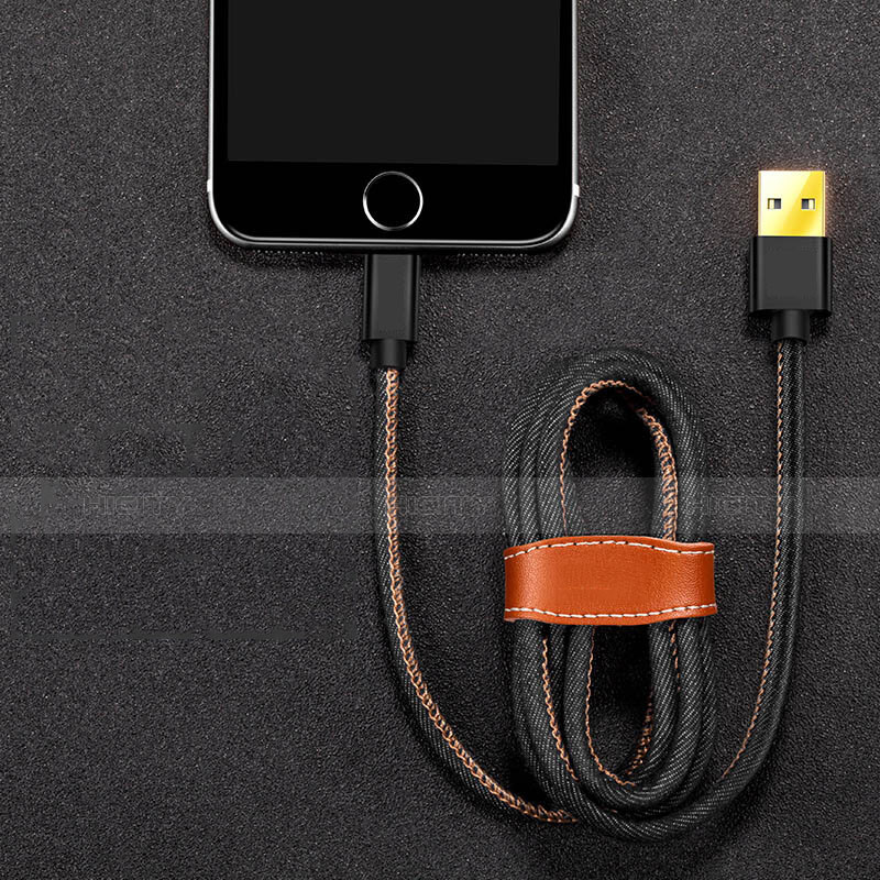 Cargador Cable USB Carga y Datos L04 para Apple iPhone 11 Pro Negro