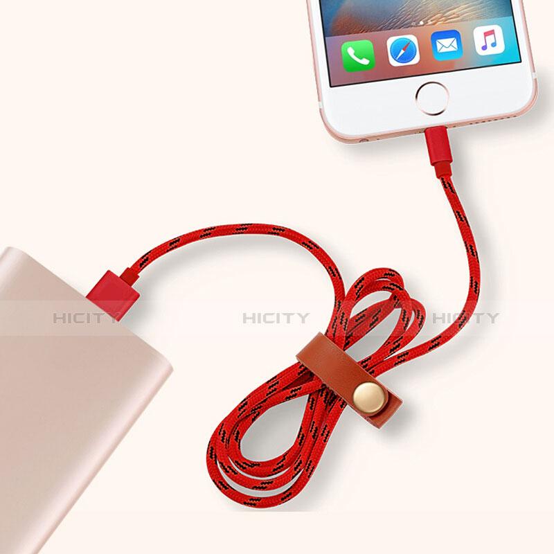 Cargador Cable USB Carga y Datos L05 para Apple iPhone 11 Rojo