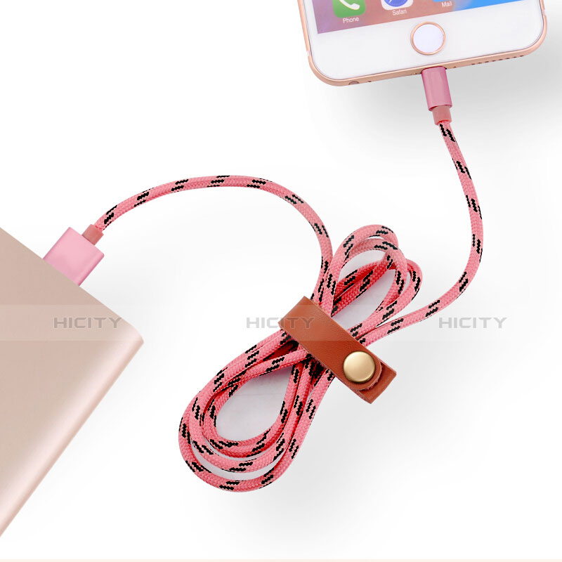 Cargador Cable USB Carga y Datos L05 para Apple iPhone 11 Rosa