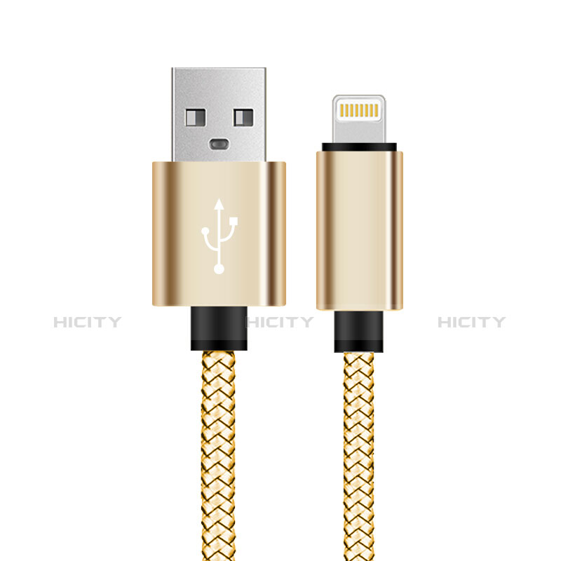 Cargador Cable USB Carga y Datos L07 para Apple iPhone 11 Pro Oro