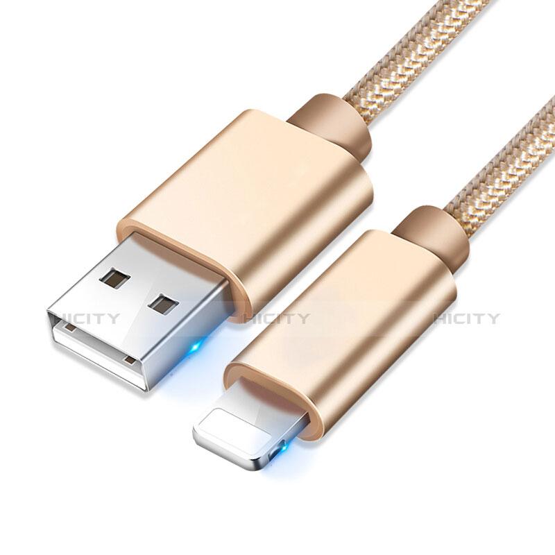 Cargador Cable USB Carga y Datos L08 para Apple iPhone 11 Oro