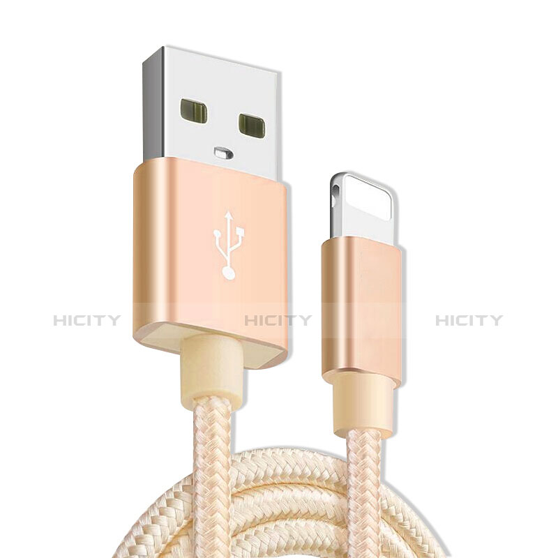 Cargador Cable USB Carga y Datos L08 para Apple iPhone 11 Oro