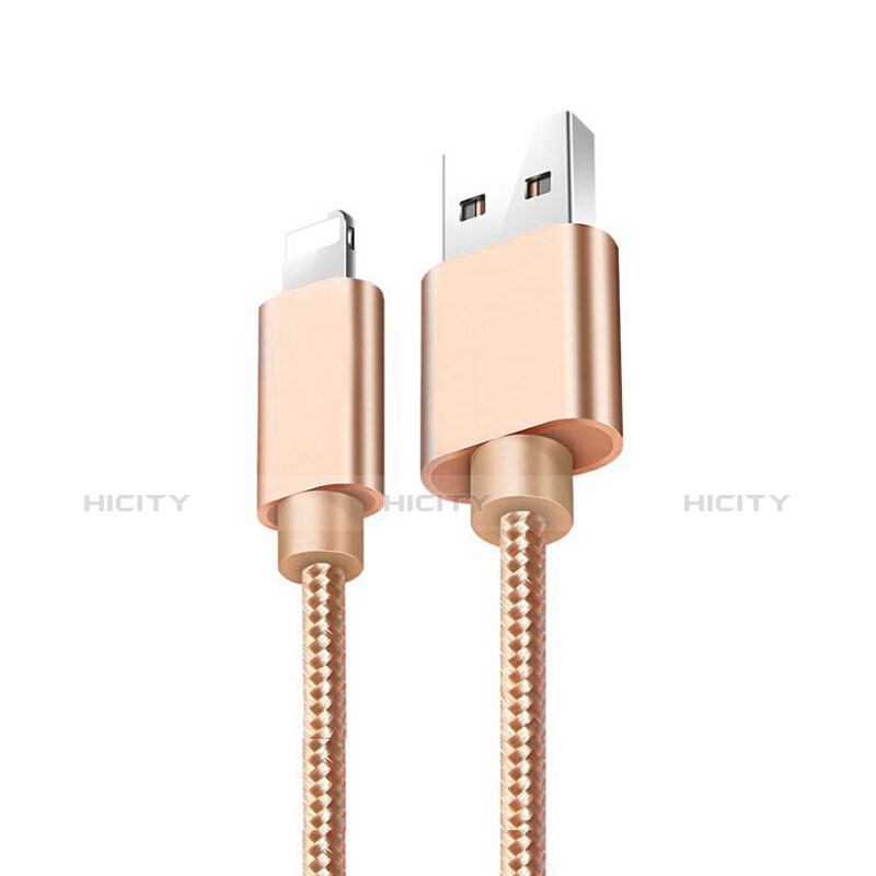 Cargador Cable USB Carga y Datos L08 para Apple iPhone 11 Pro Oro