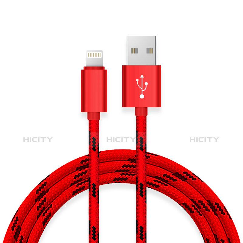 Cargador Cable USB Carga y Datos L10 para Apple iPhone 11 Pro Rojo