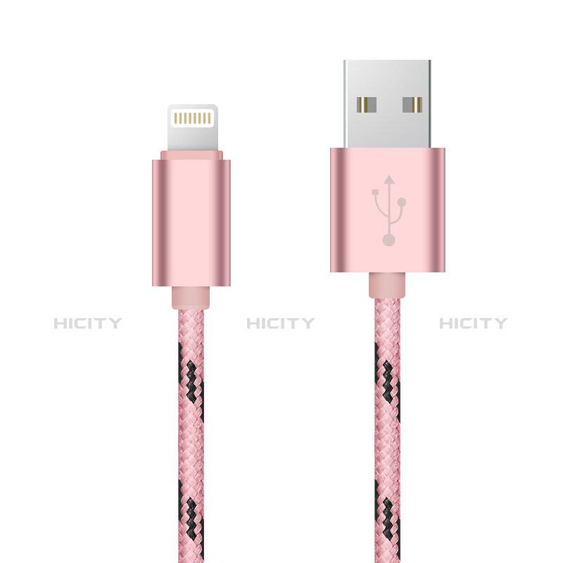 Cargador Cable USB Carga y Datos L10 para Apple iPhone 11 Pro Rosa