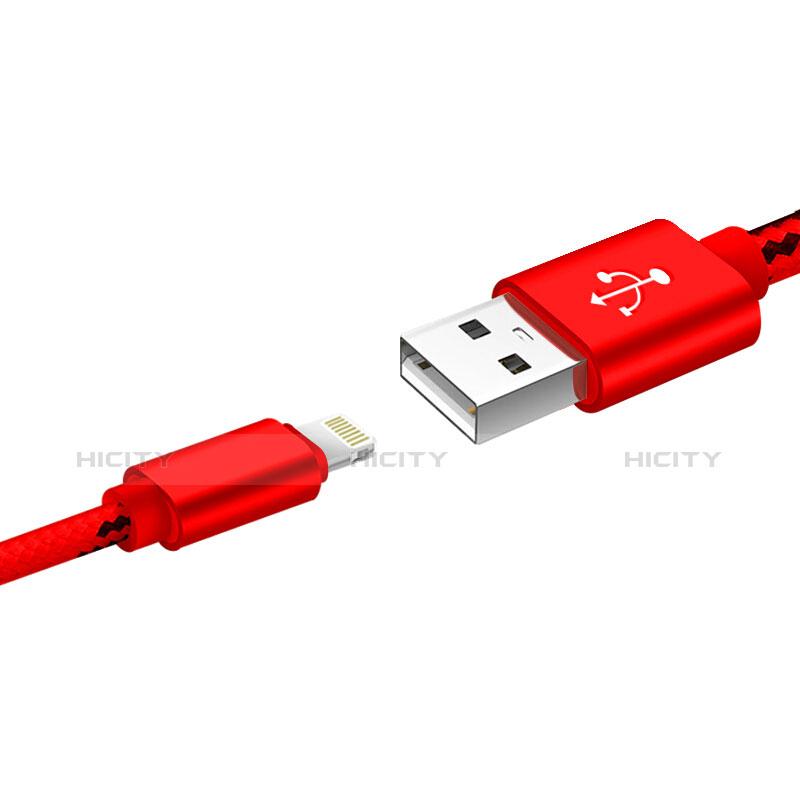 Cargador Cable USB Carga y Datos L10 para Apple iPhone 11 Rojo