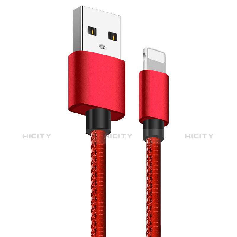 Cargador Cable USB Carga y Datos L11 para Apple iPhone 11 Rojo