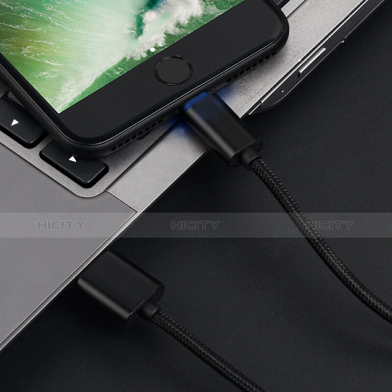 Cargador Cable USB Carga y Datos L13 para Apple iPhone 11 Negro