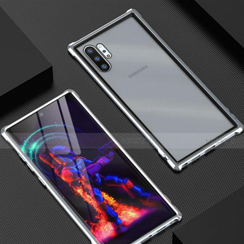 Funda Bumper Lujo Marco de Aluminio Espejo 360 Grados Carcasa G01 para Samsung Galaxy Note 10 Plus 5G