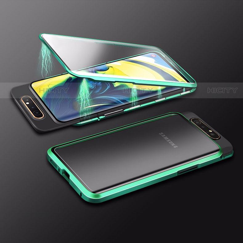 Funda Bumper Lujo Marco de Aluminio Espejo 360 Grados Carcasa M01 para Samsung Galaxy A80