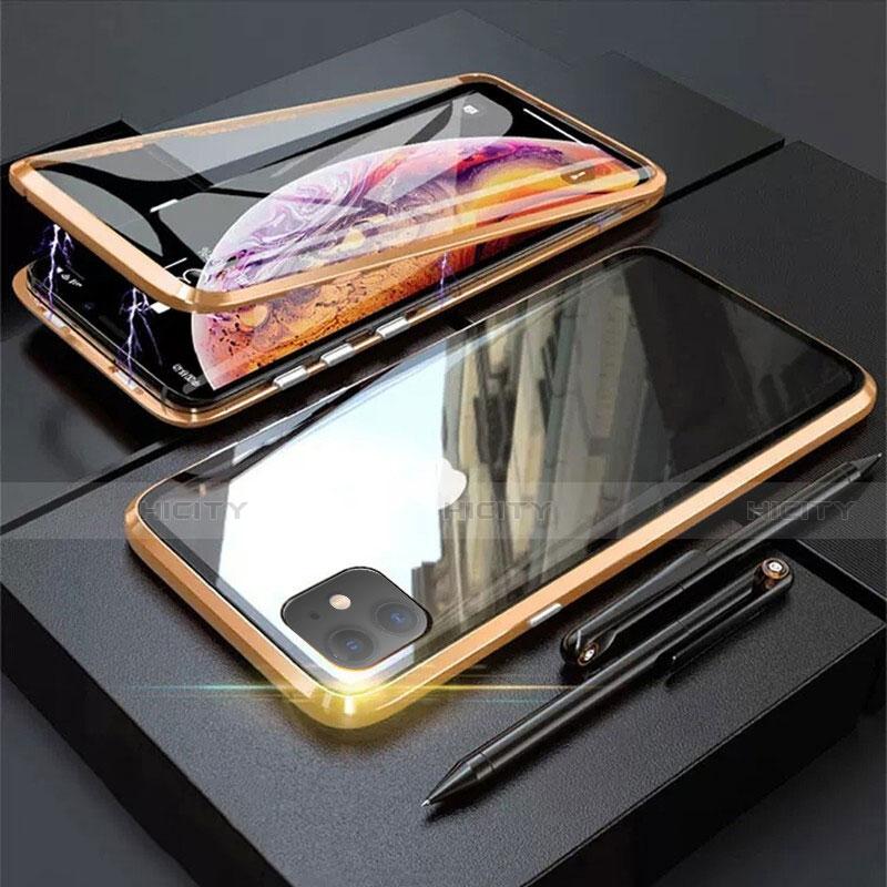 Funda Bumper Lujo Marco de Aluminio Espejo 360 Grados Carcasa M03 para Apple iPhone 11