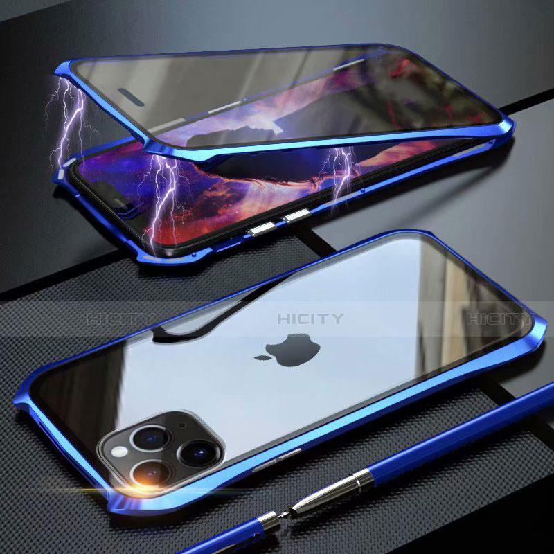 Funda Bumper Lujo Marco de Aluminio Espejo 360 Grados Carcasa M10 para Apple iPhone 11 Pro Max