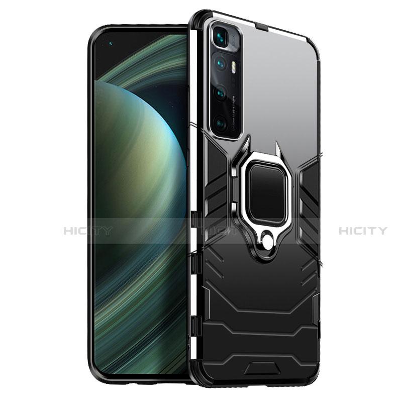 Funda Bumper Silicona y Plastico Mate Carcasa con Magnetico Anillo de dedo Soporte S01 para Xiaomi Mi 10 Ultra