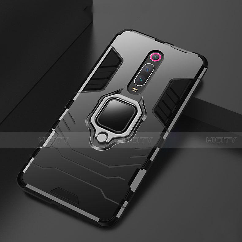Funda Bumper Silicona y Plastico Mate Carcasa con Magnetico Soporte para Xiaomi Mi 9T