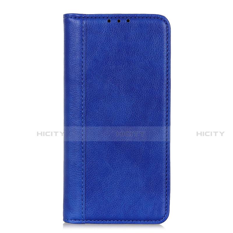 Funda de Cuero Cartera con Soporte Carcasa L01 para Motorola Moto G9 Plus Azul
