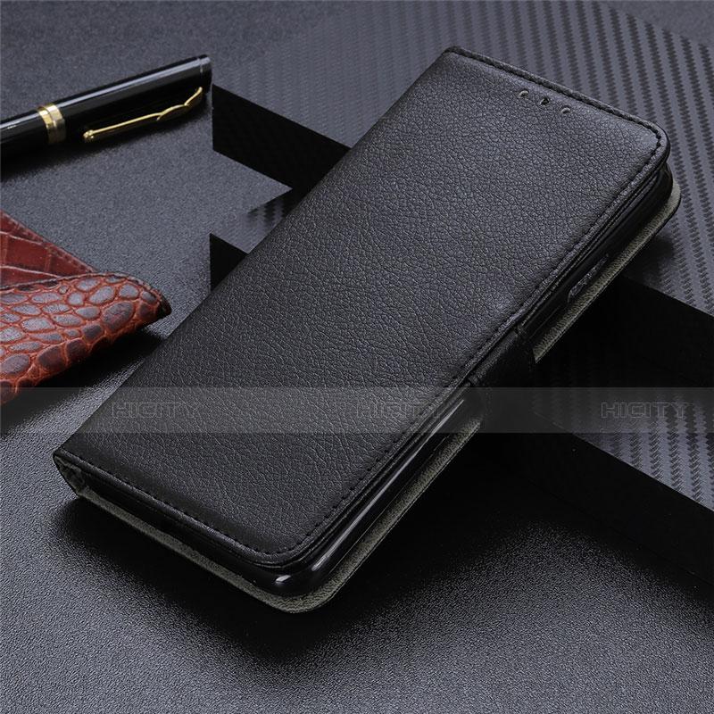 Funda de Cuero Cartera con Soporte Carcasa L03 para Motorola Moto G9 Plus Negro