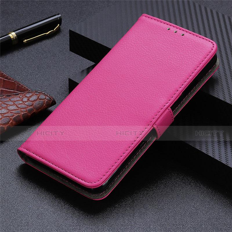 Funda de Cuero Cartera con Soporte Carcasa L03 para Motorola Moto G9 Plus Rosa Roja