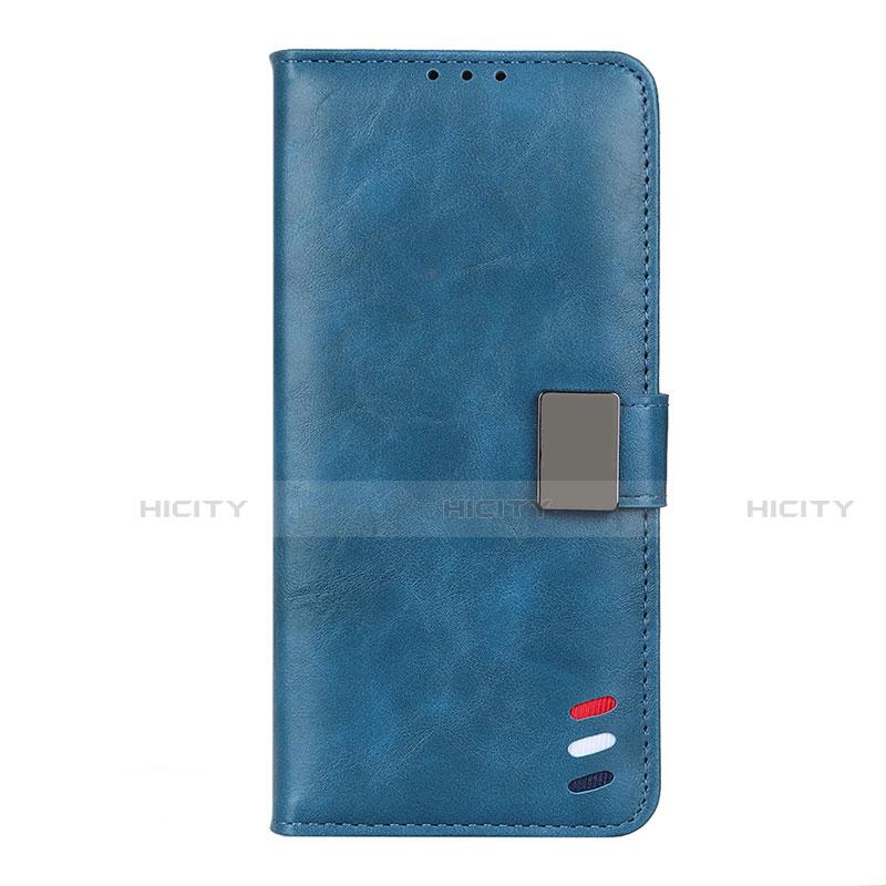 Funda de Cuero Cartera con Soporte Carcasa L04 para Motorola Moto G9 Plus Azul