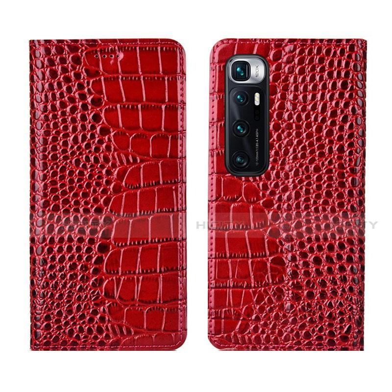 Funda de Cuero Cartera con Soporte Carcasa L04 para Xiaomi Mi 10 Ultra Rojo