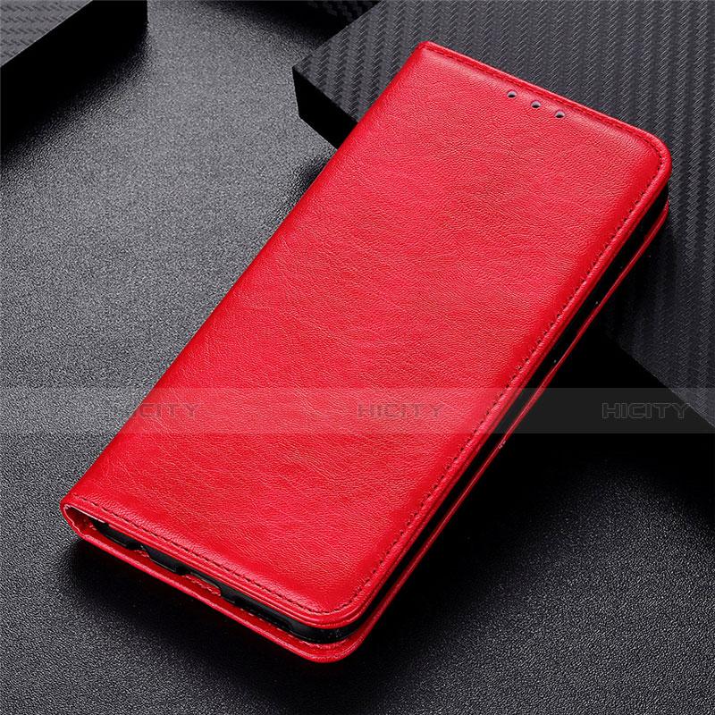 Funda de Cuero Cartera con Soporte Carcasa L05 para Motorola Moto G9 Plus Rojo
