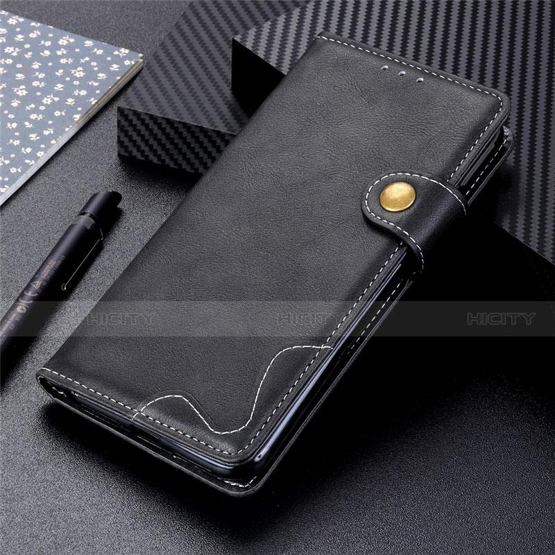 Funda de Cuero Cartera con Soporte Carcasa para Motorola Moto G9 Plus Negro