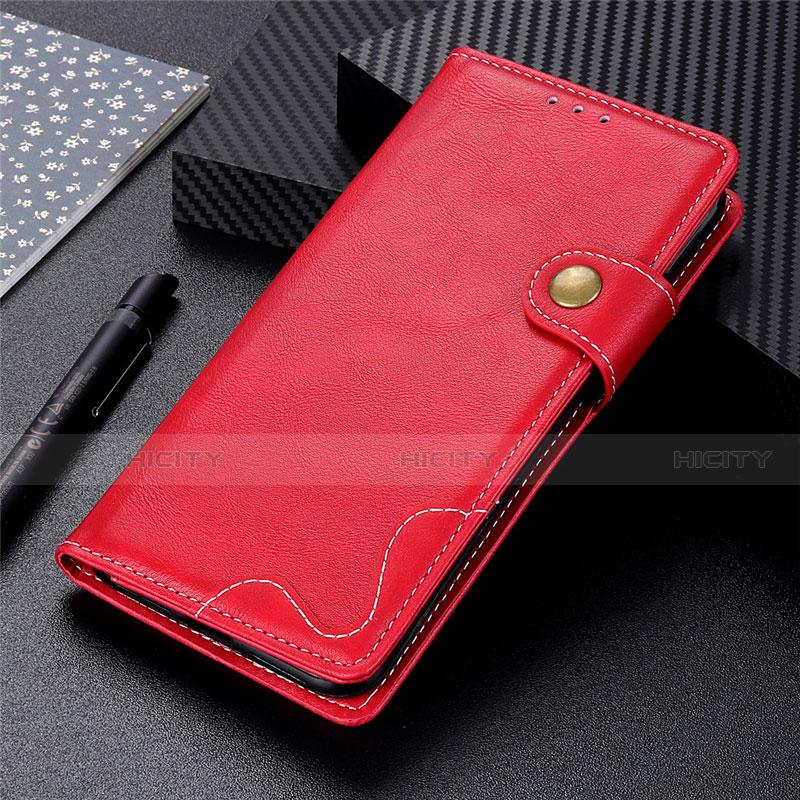 Funda de Cuero Cartera con Soporte Carcasa para Motorola Moto G9 Plus Rojo