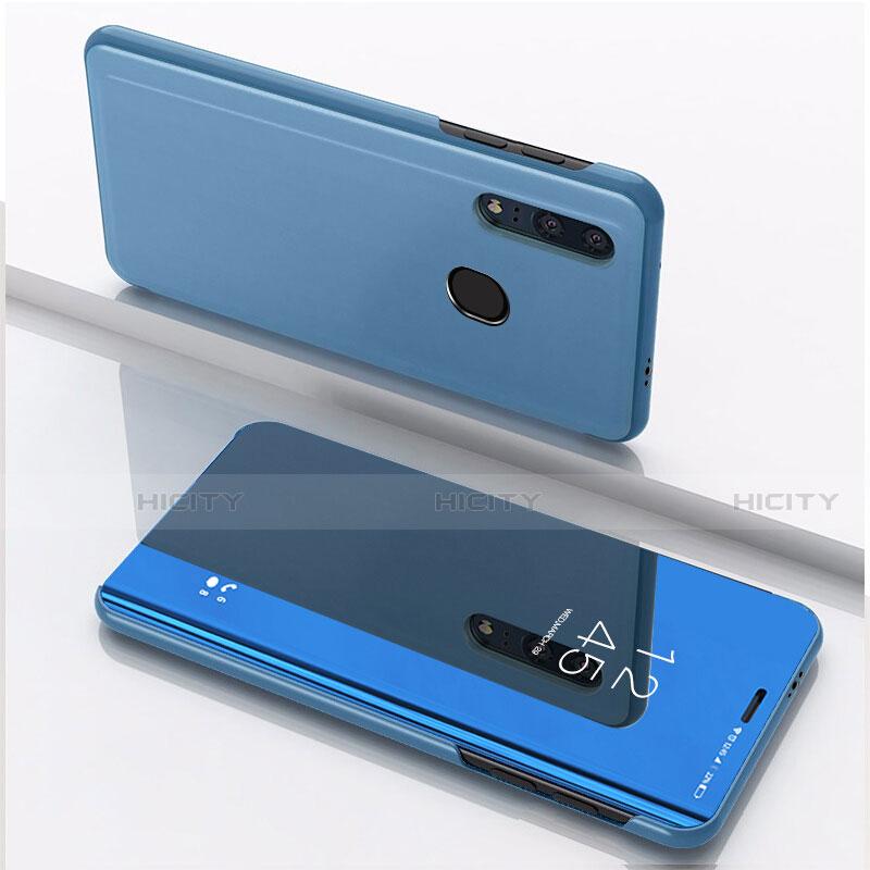 Funda de Cuero Cartera con Soporte Espejo Carcasa para Huawei Honor 20 Lite Azul