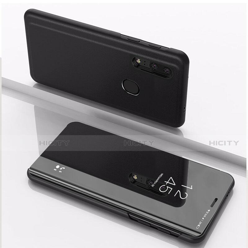 Funda de Cuero Cartera con Soporte Espejo Carcasa para Huawei Honor 20 Lite Negro