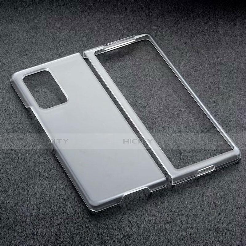 Funda Dura Cristal Plastico Rigida Transparente para Samsung Galaxy Z Fold2 5G Negro