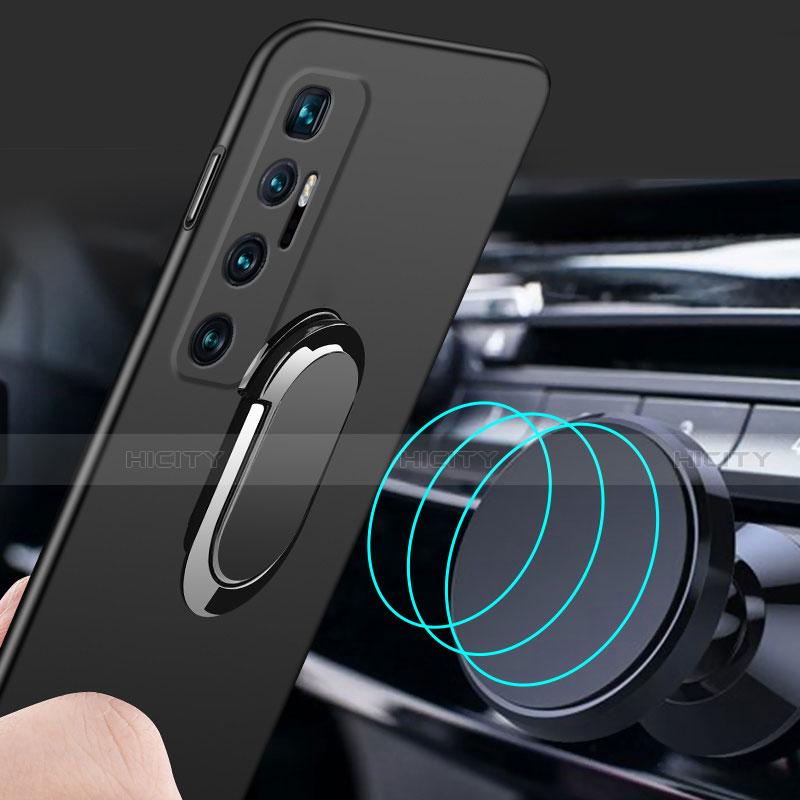 Funda Dura Plastico Rigida Carcasa Mate con Magnetico Anillo de dedo Soporte A01 para Xiaomi Mi 10 Ultra