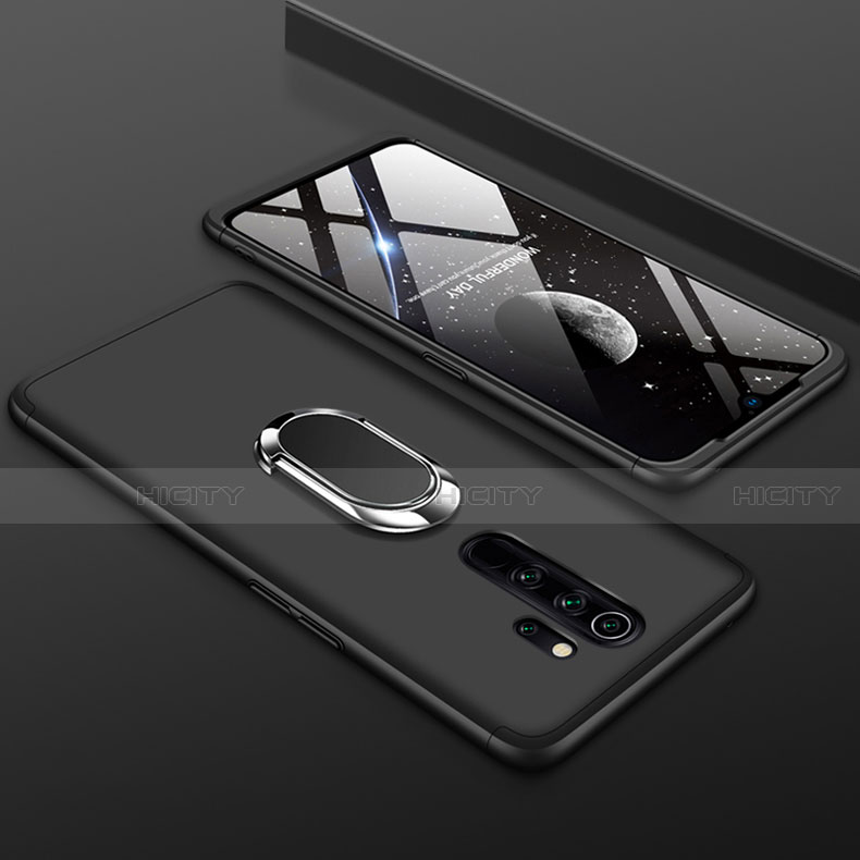 Funda Dura Plastico Rigida Carcasa Mate Frontal y Trasera 360 Grados con Anillo de dedo Soporte para Xiaomi Redmi Note 8 Pro
