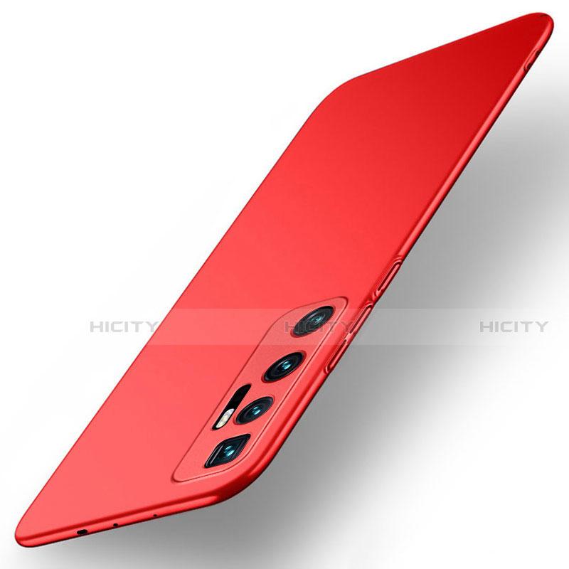 Funda Dura Plastico Rigida Carcasa Mate M01 para Xiaomi Mi 10 Ultra Rojo