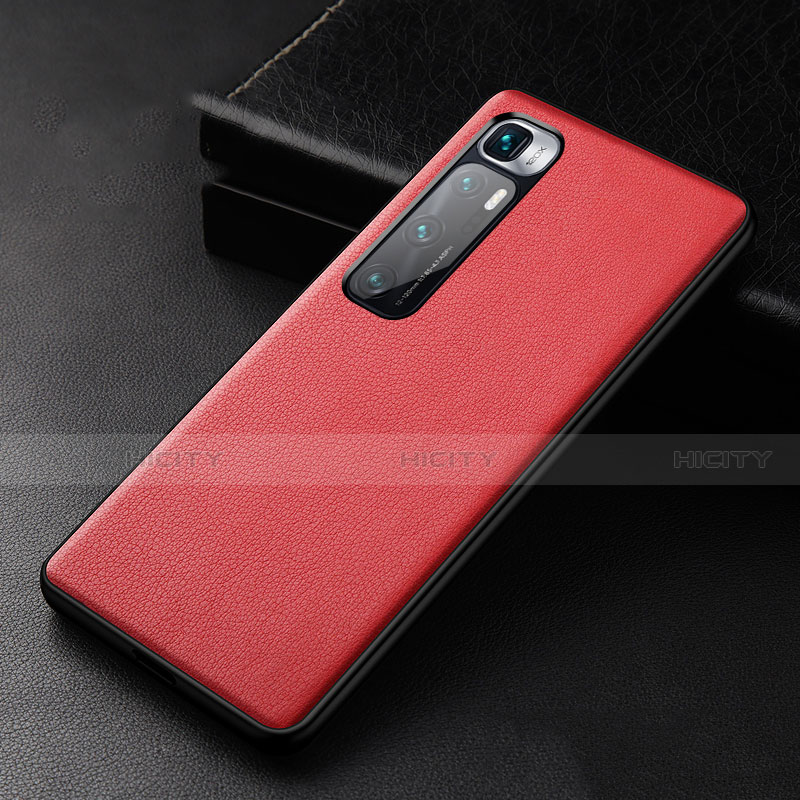 Funda Lujo Cuero Carcasa S01 para Xiaomi Mi 10 Ultra Rojo