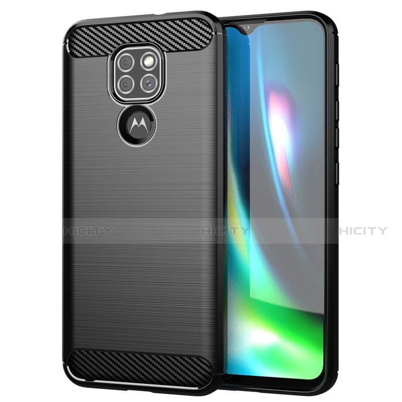 Funda Silicona Carcasa Goma Line S01 para Motorola Moto G9 Negro