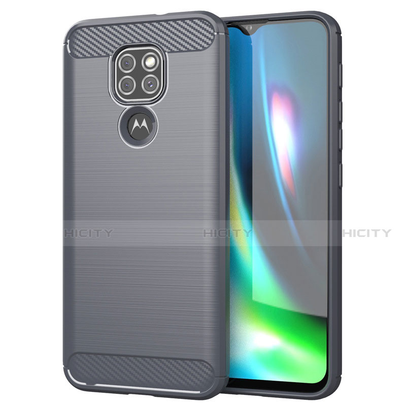 Funda Silicona Carcasa Goma Line S01 para Motorola Moto G9 Play Gris