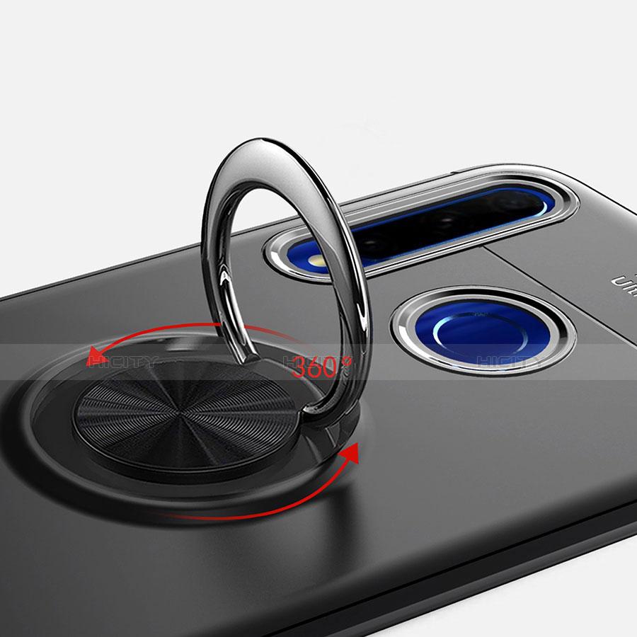 Funda Silicona Carcasa Ultrafina Goma con Magnetico Anillo de dedo Soporte A01 para Huawei Honor 20 Lite
