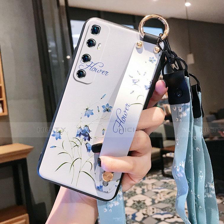 Funda Silicona Gel Goma Flores Carcasa para Xiaomi Mi 10 Ultra