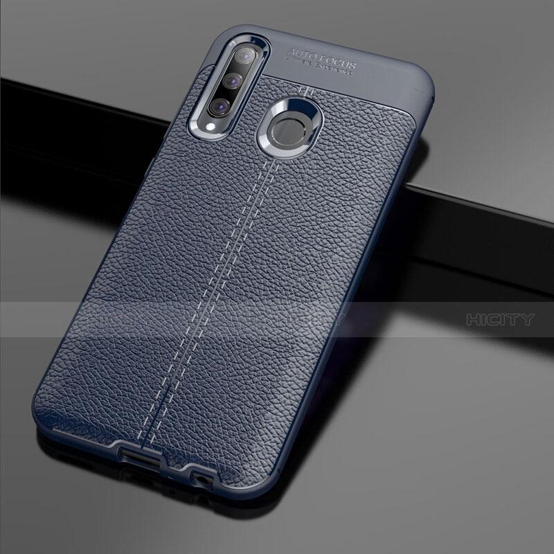 Funda Silicona Goma de Cuero Carcasa S01 para Huawei Honor 20 Lite Azul