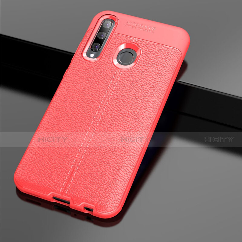 Funda Silicona Goma de Cuero Carcasa S01 para Huawei Honor 20 Lite Rojo