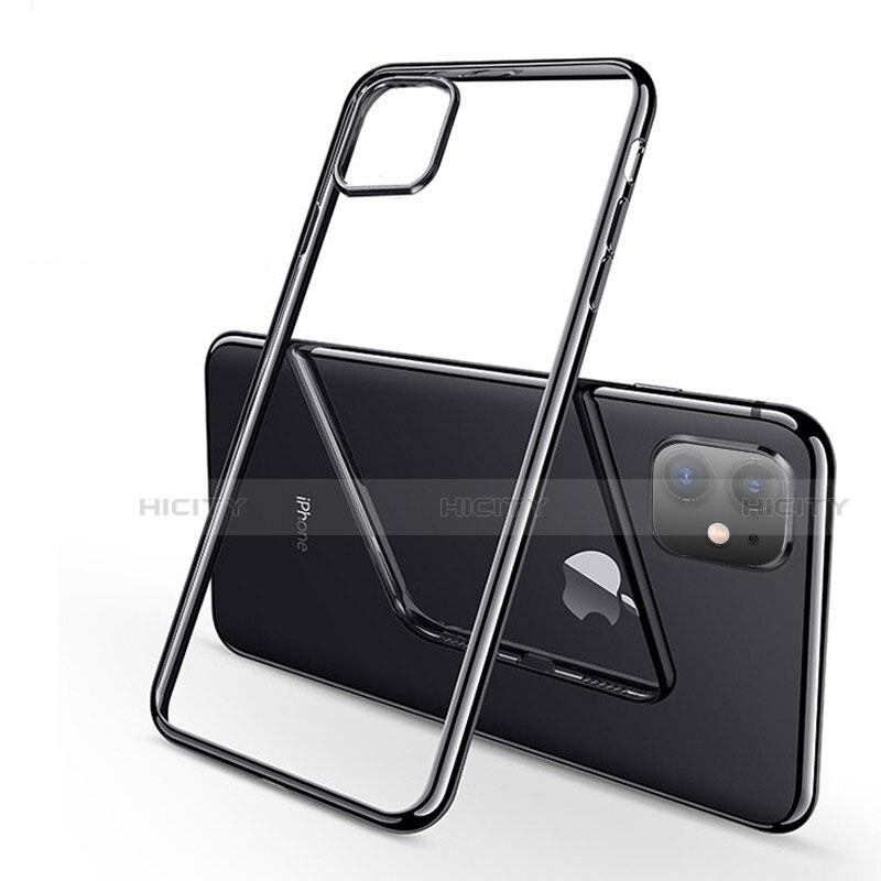 Funda Silicona Ultrafina Carcasa Transparente H03 para Apple iPhone 11 Negro