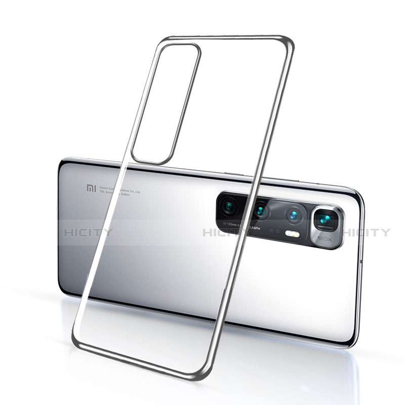 Funda Silicona Ultrafina Carcasa Transparente H03 para Xiaomi Mi 10 Ultra Plata