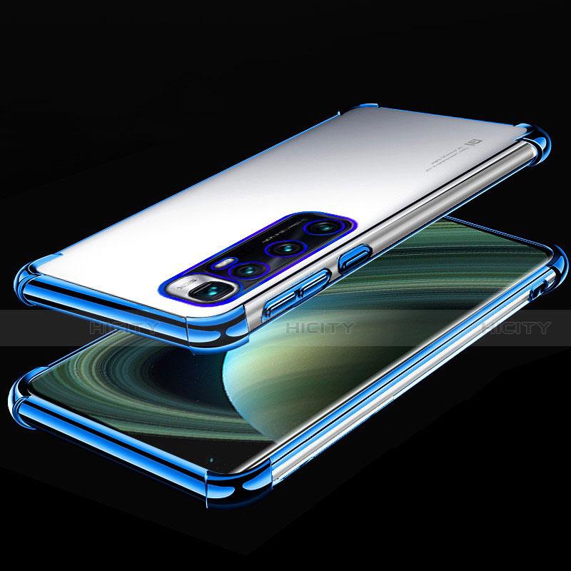 Funda Silicona Ultrafina Carcasa Transparente H04 para Xiaomi Mi 10 Ultra Azul