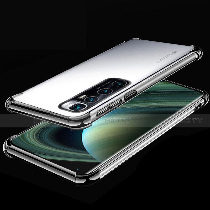 Funda Silicona Ultrafina Carcasa Transparente H04 para Xiaomi Mi 10 Ultra Negro