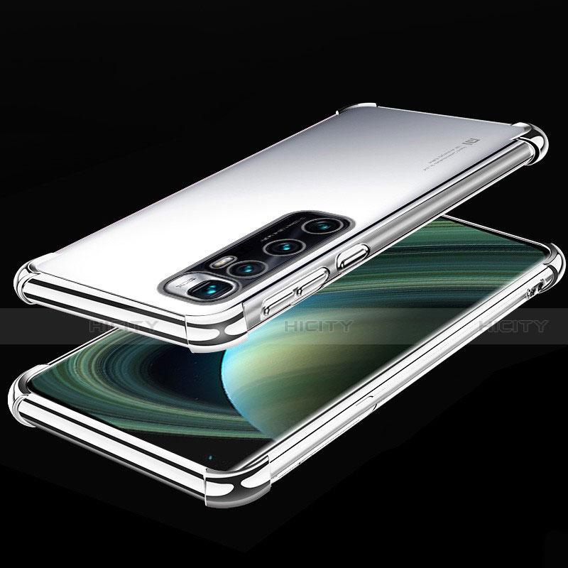 Funda Silicona Ultrafina Carcasa Transparente H04 para Xiaomi Mi 10 Ultra Plata