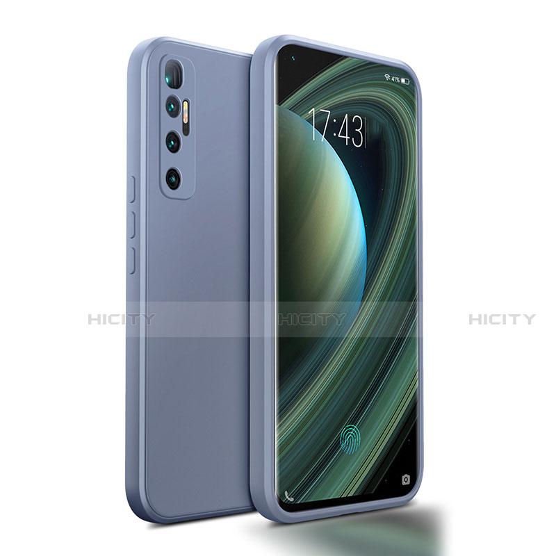 Funda Silicona Ultrafina Goma 360 Grados Carcasa S01 para Xiaomi Mi 10 Ultra Gris Lavanda