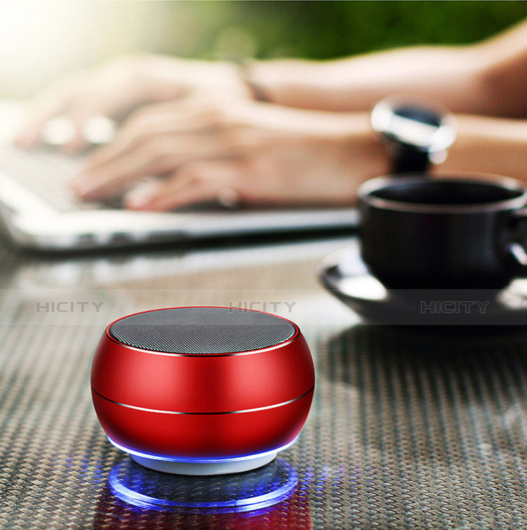 Mini Altavoz Portatil Bluetooth Inalambrico Altavoces Estereo Rojo